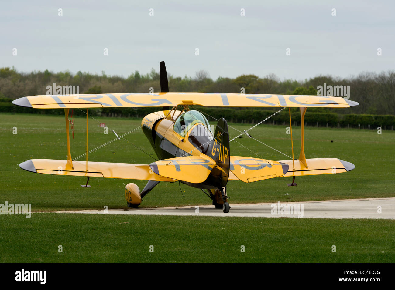 Pitts Special at Sywell Aerodrome, Northamptonshire, England, UK (G-IIIP) - Stock Image