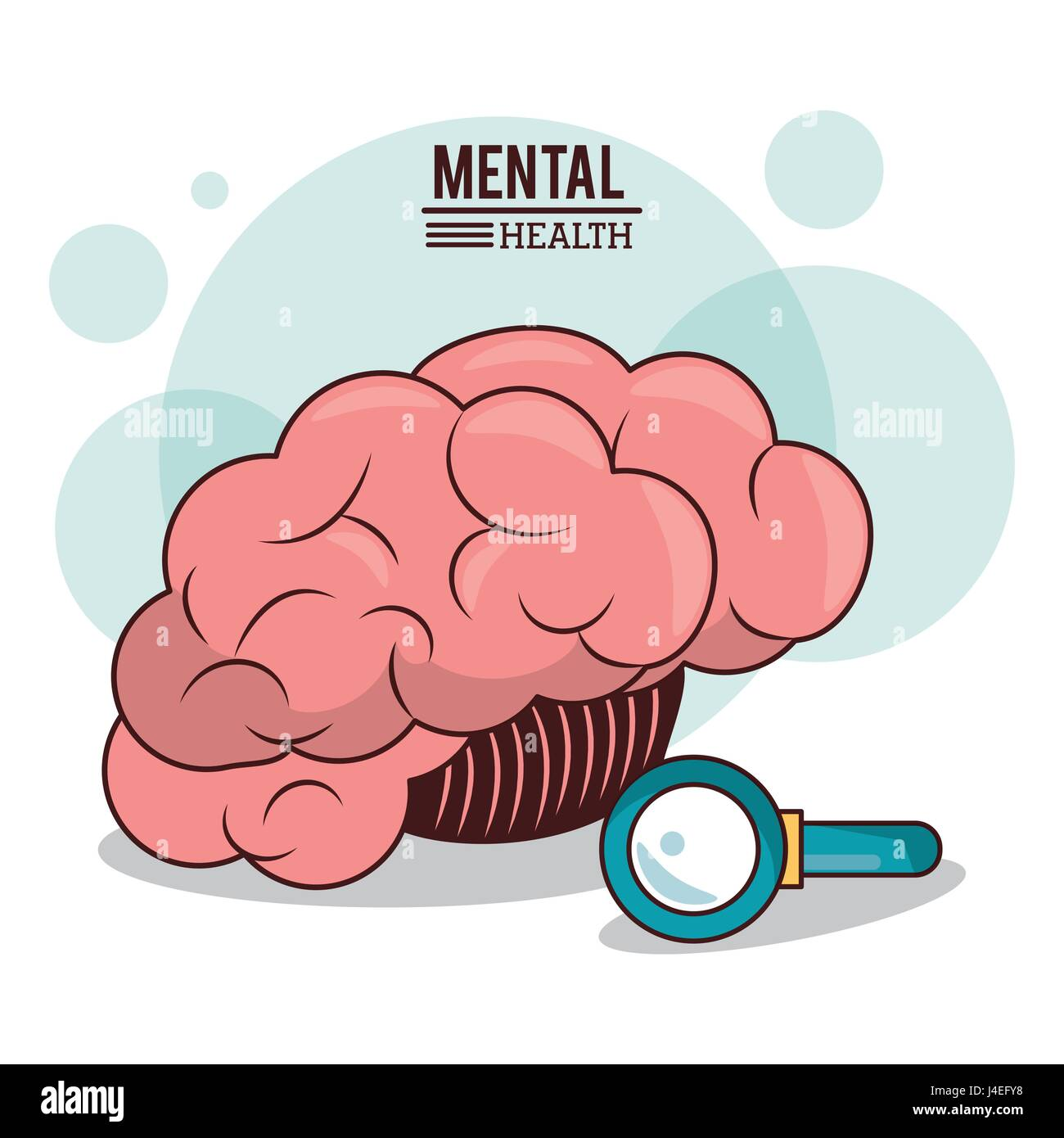 mental health. human brain search innovation discovery image - Stock Image