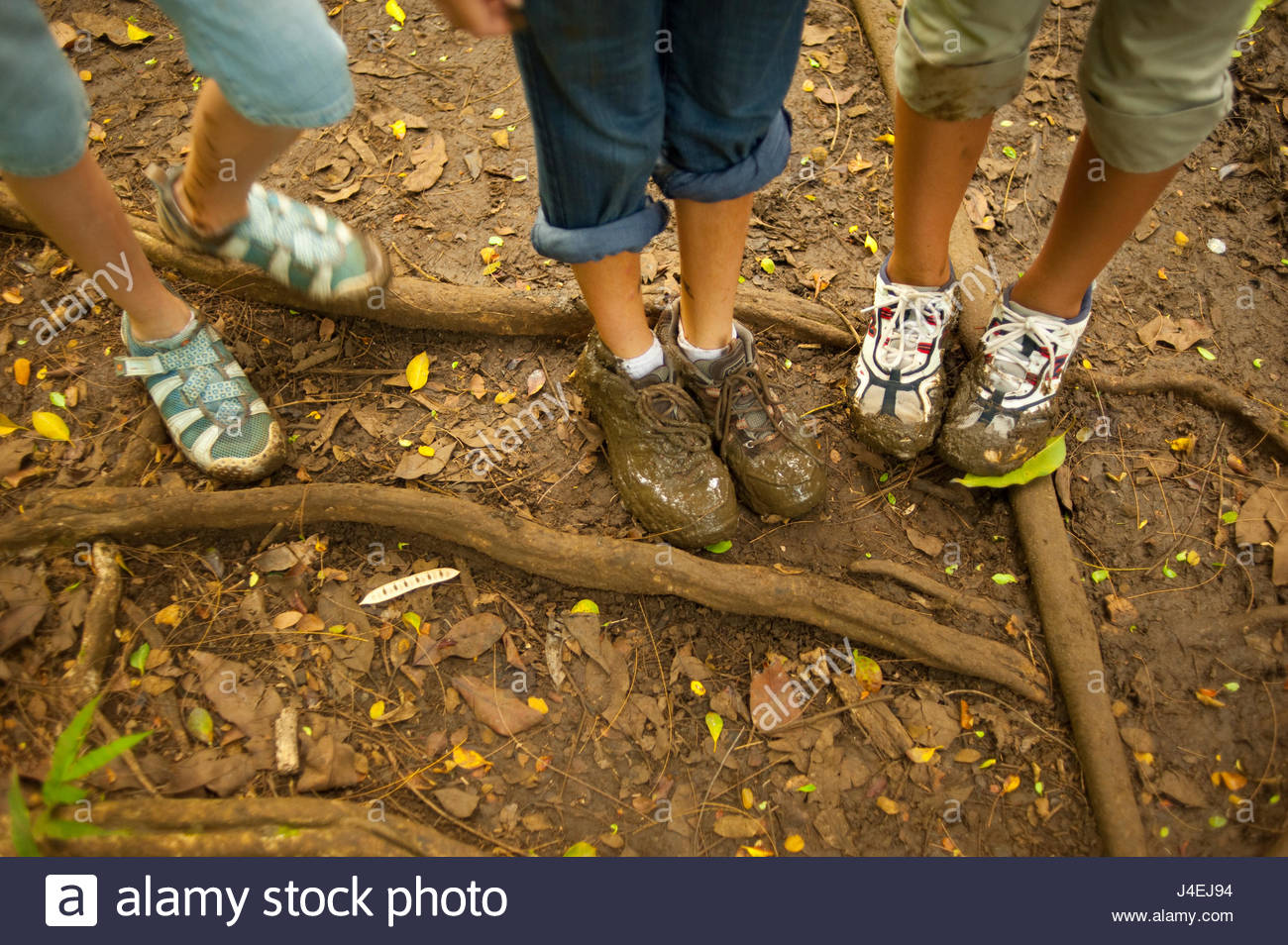 Muddy Shoes High Resolution Stock
