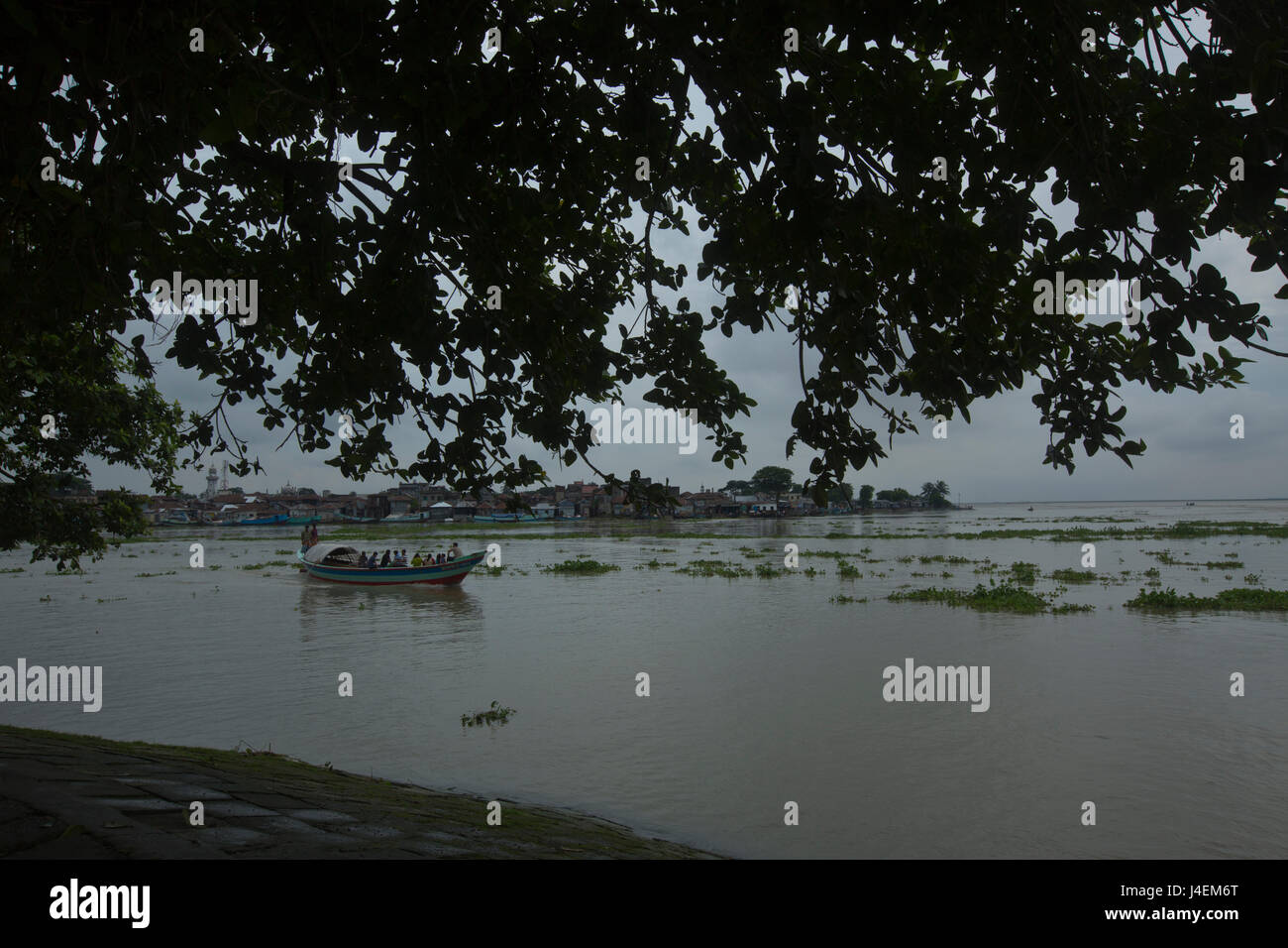 View of the Dakatia River in Chandpur, Bangladesh. - Stock Image