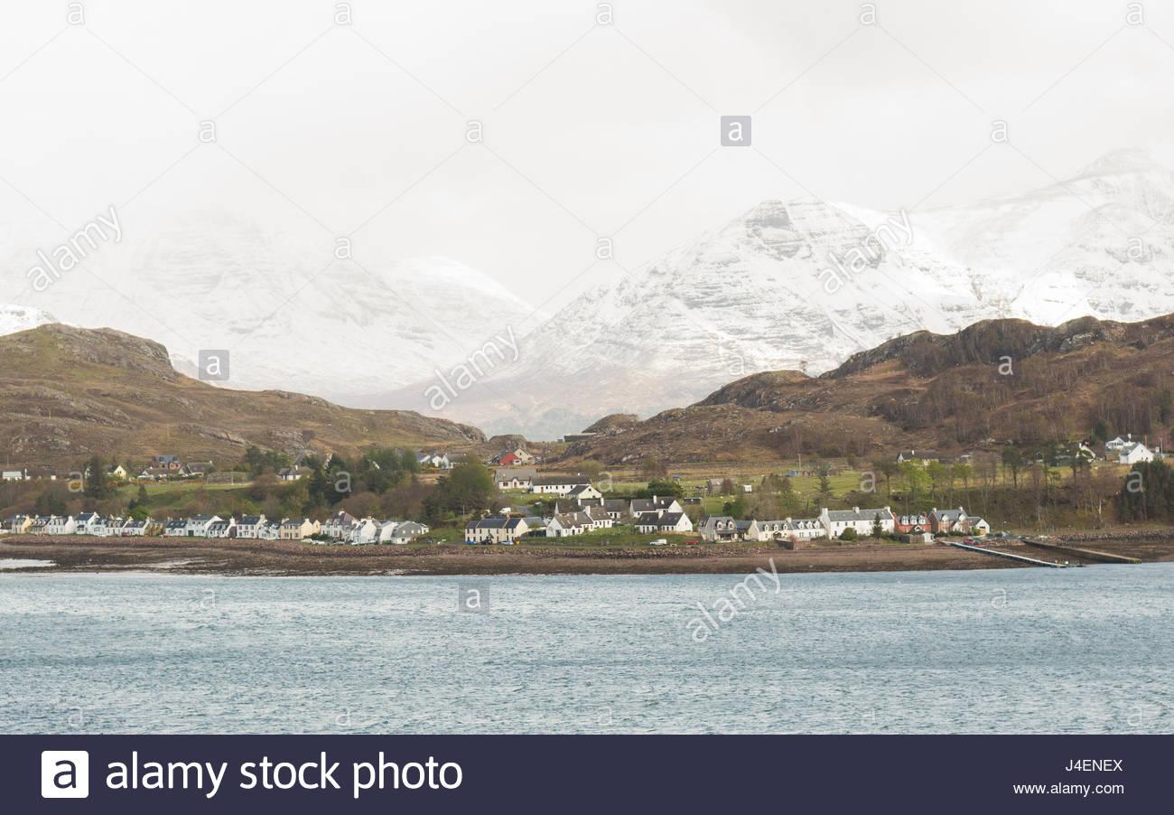 Shieldaig, a village  on the West Coast of Scotland, UK - Stock Image