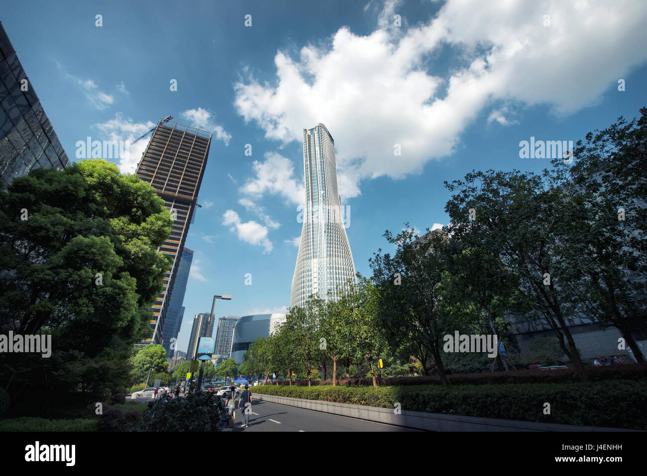 Raffles City is one of Hangzhou's newest and tallest skyscrapers, Hangzhou, China, Asia - Stock Image