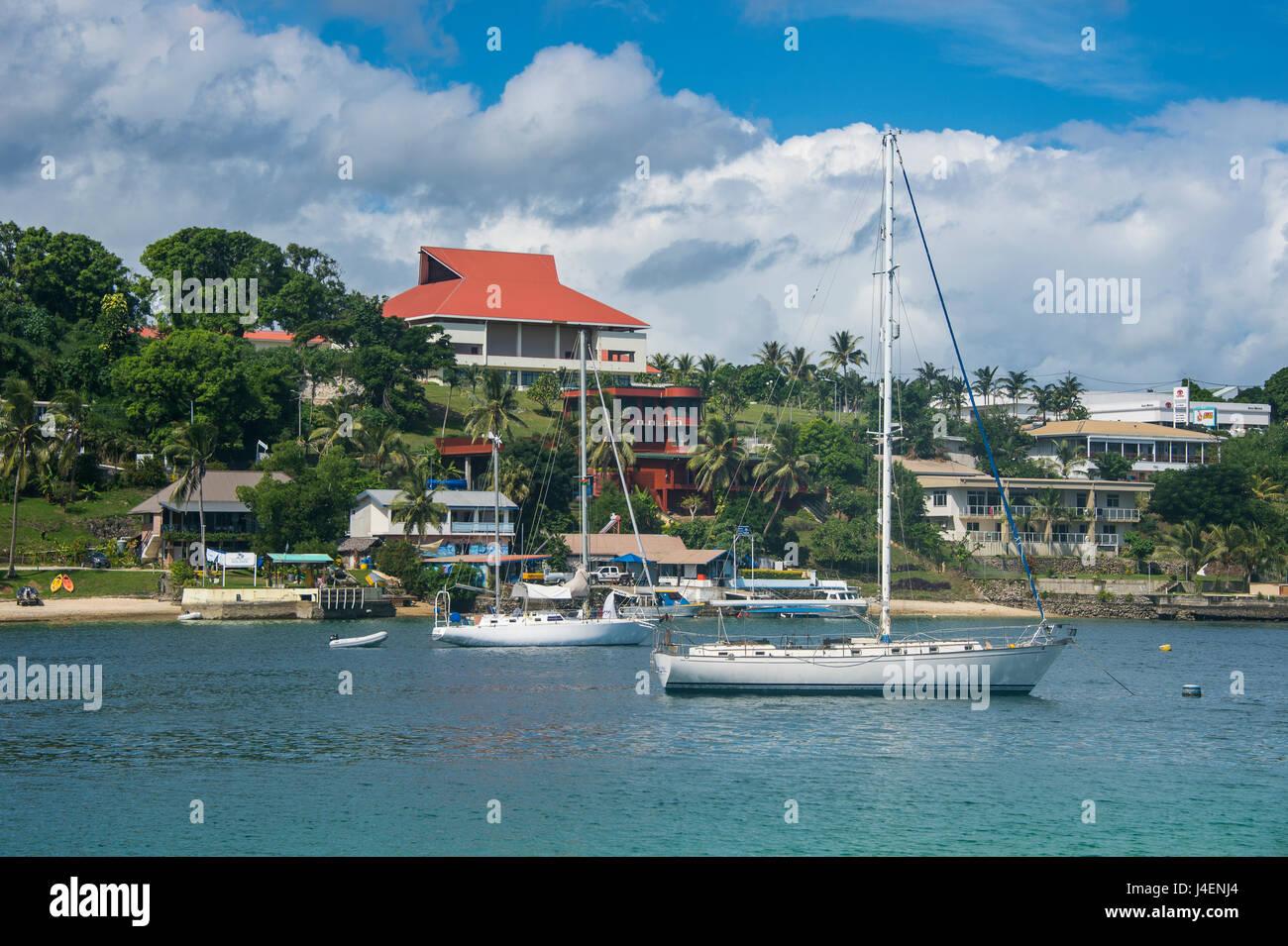 The harbour of Port Vila, Efate, Vanuatu, Pacific - Stock Image