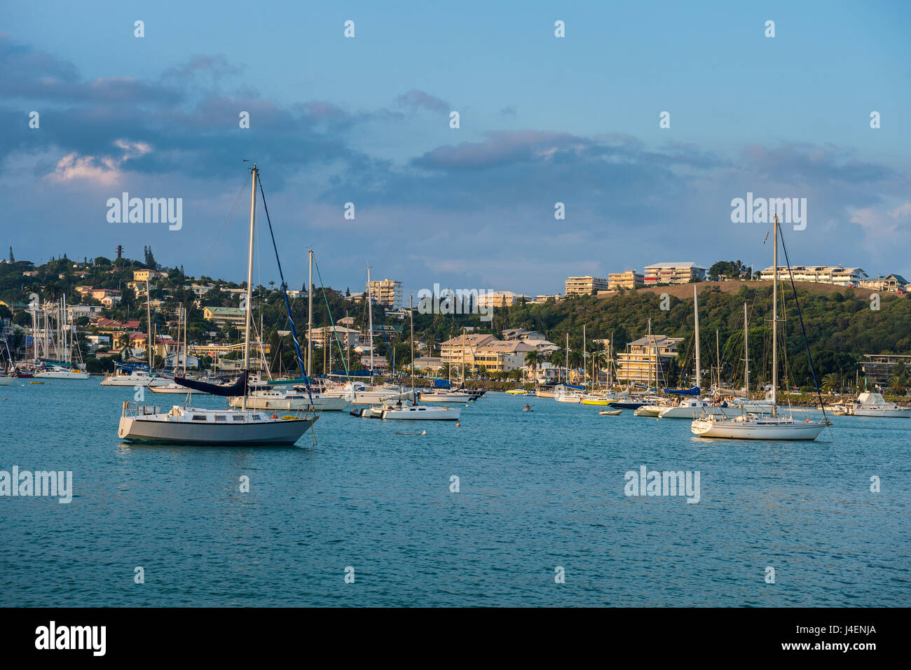 Little boats in the Magenta Port Sud, bay, Noumea, New Caledonia, Pacific - Stock Image
