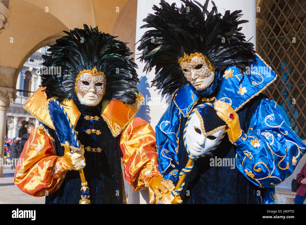 Colourful masks and costumes of the Carnival of Venice