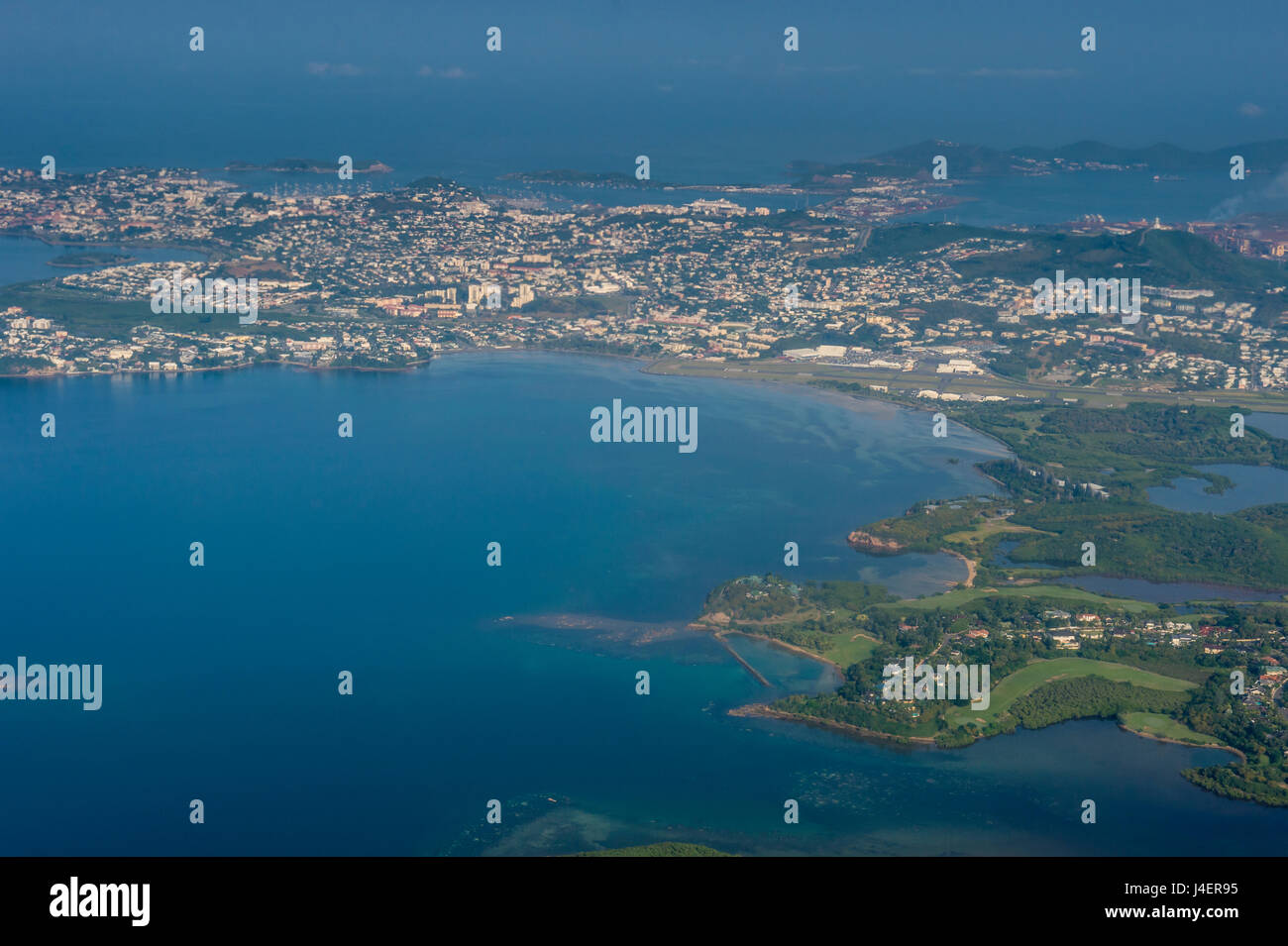 Aerial of Noumea, New Caledonia, Pacific - Stock Image