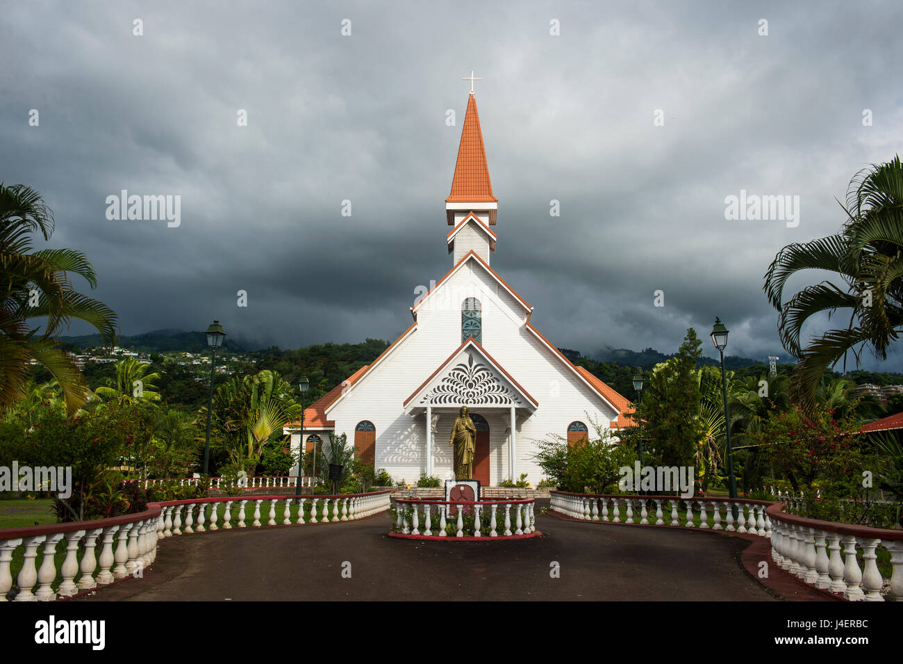 Tahiti, Society Islands, French Polynesia, Pacific - Stock Image