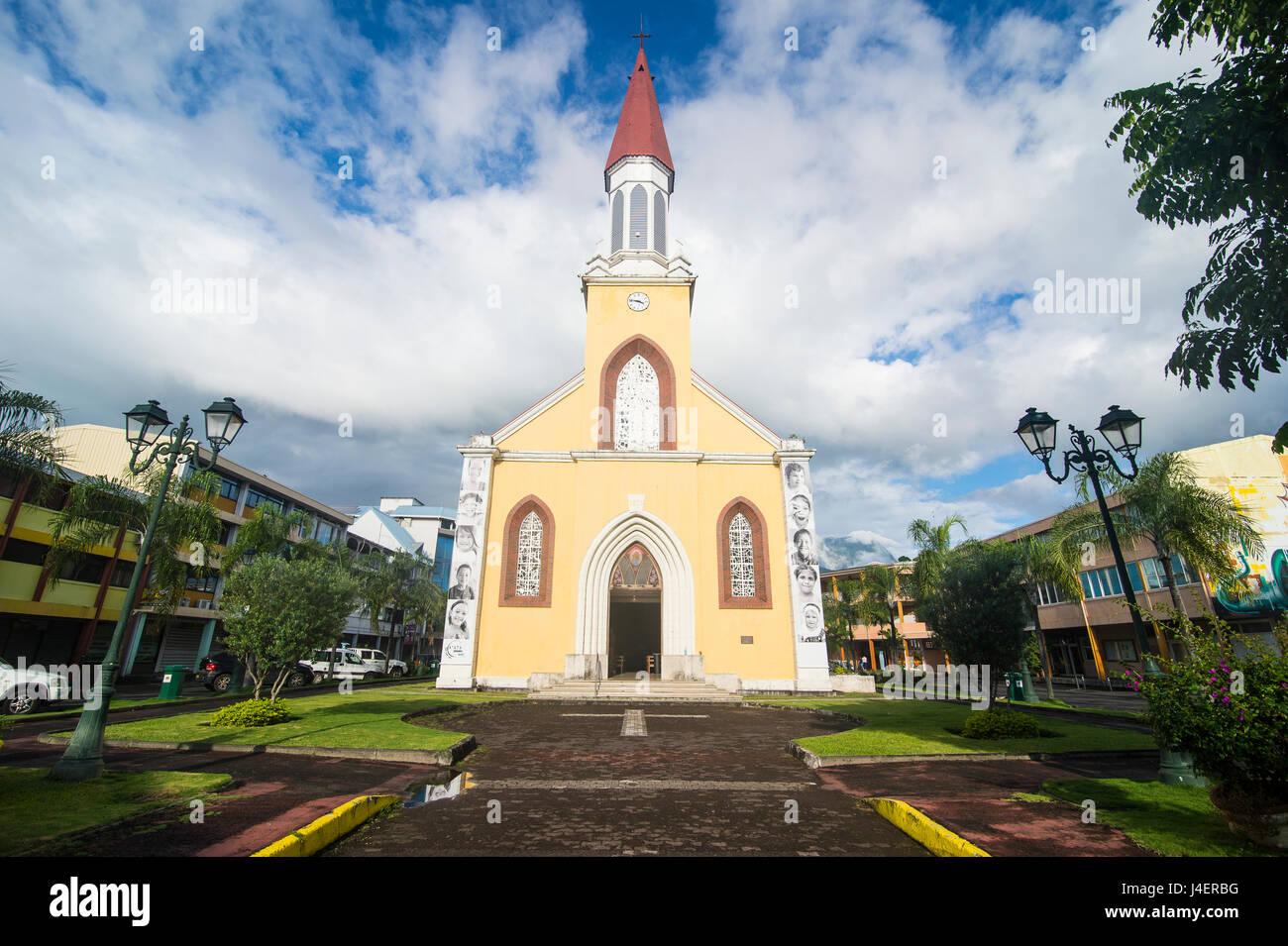 Roman Catholic Archdiocese of Papeete, Tahiti, Society Islands, French Polynesia, Pacific - Stock Image