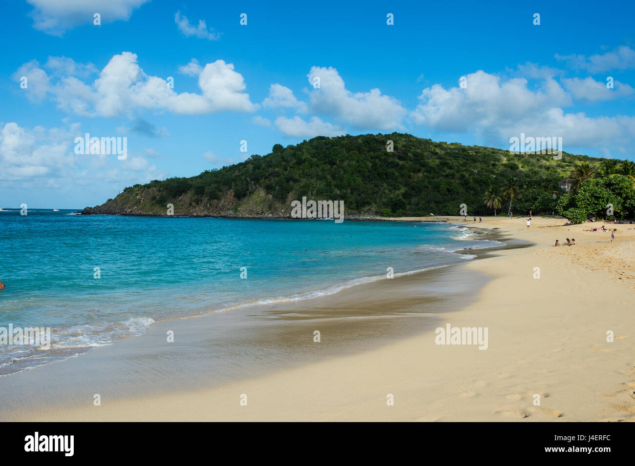 Happy Bay Beach, St. Martin, French territory, West Indies, Caribbean, Central America - Stock Image