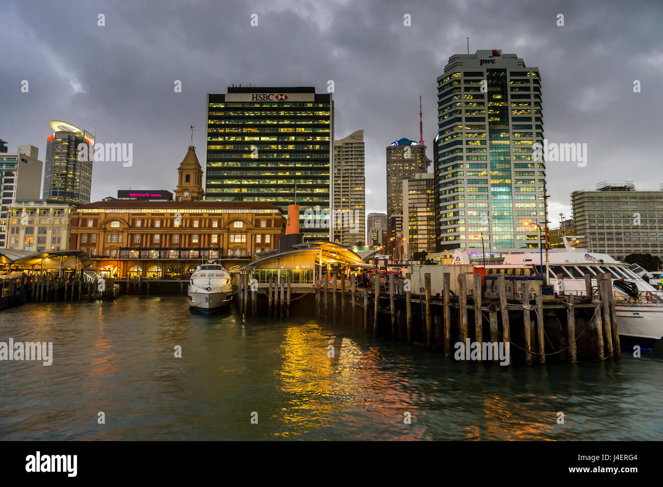 The skyline of Auckland, North Island, New Zealand, Pacific Stock Photo
