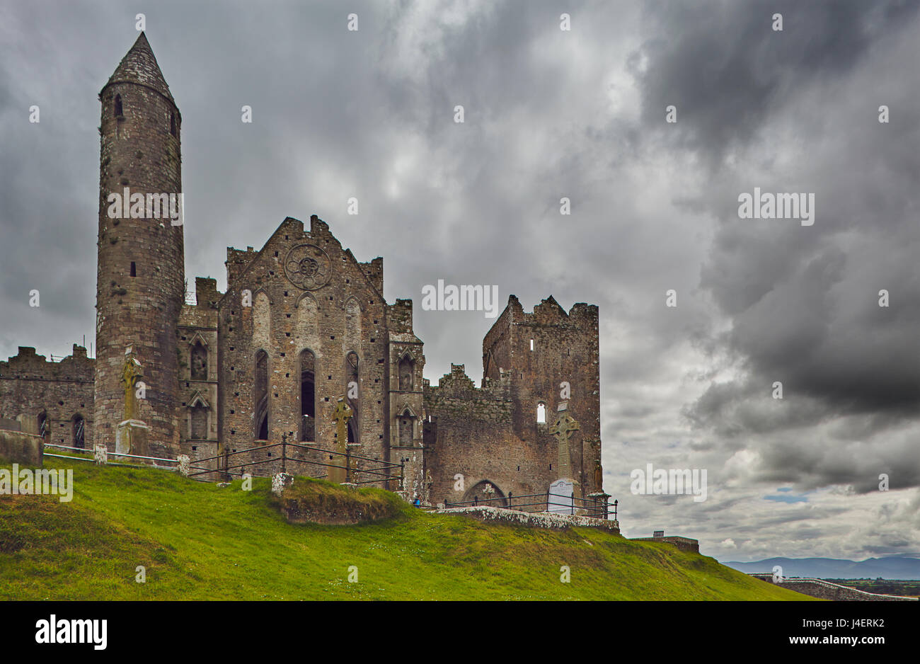 The ruins of the Rock of Cashel, Cashel, County Tipperary, Munster, Republic of Ireland, Europe Stock Photo