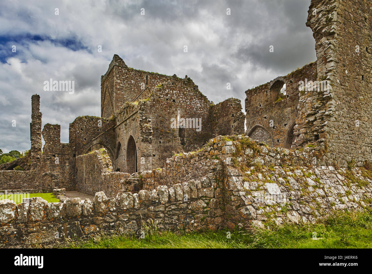 The ruins of Hore Abbey, near the ruins of the Rock of Cashel, Cashel, County Tipperary, Munster, Republic of Ireland, Stock Photo