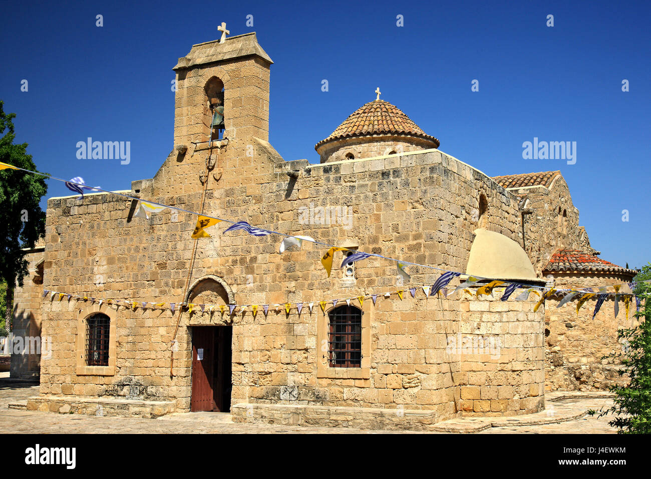 "Panagia Angeloktisti (""Panagia Built by Angels"") , a Byzantine church located in the village of Kiti, close to Larnaca Stock Photo"