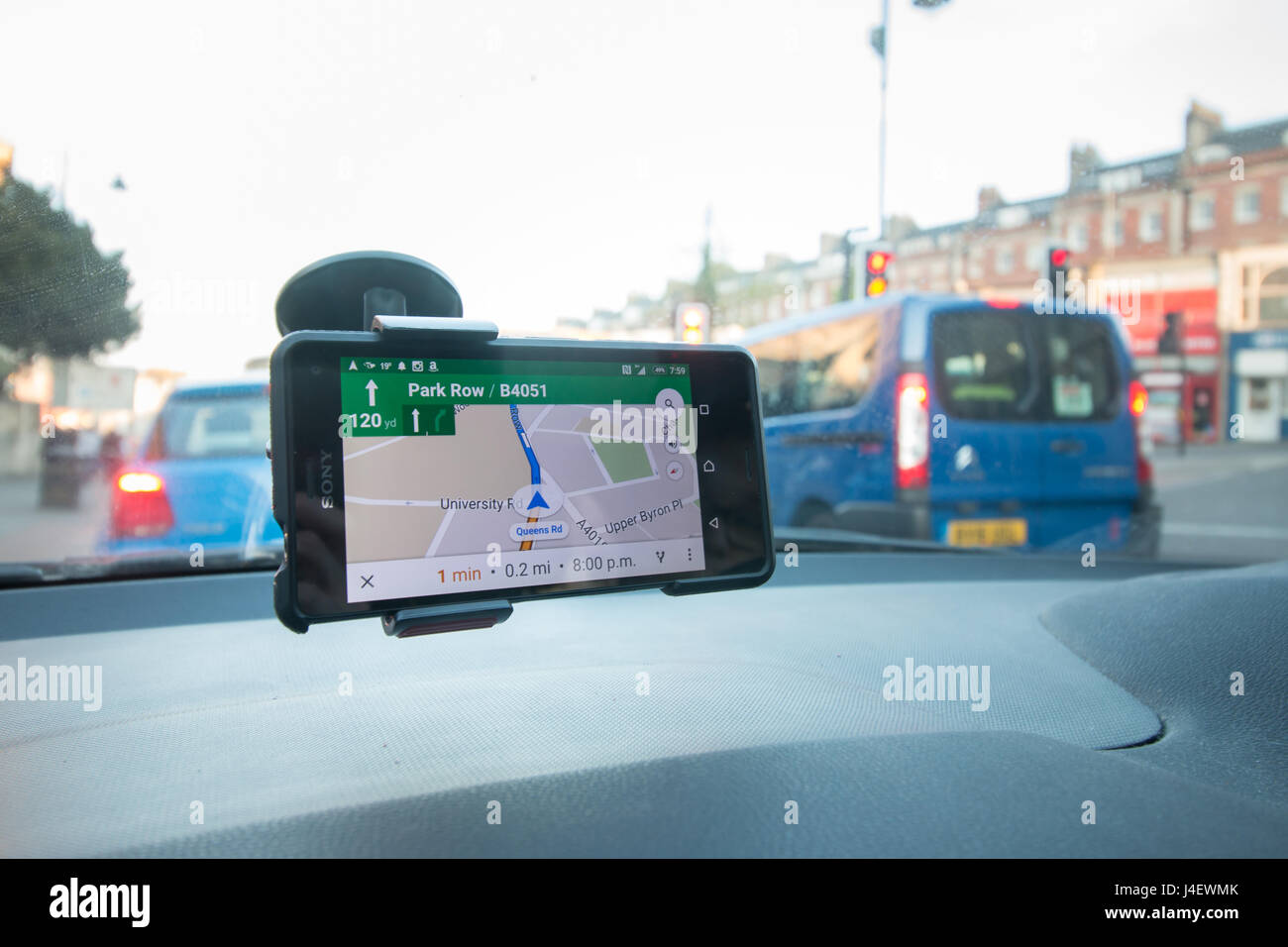 An android smart phone being used as a sat nav with google ... on android liberty, android samsung, android navigation, android eclipse, android driver, android commander, android excel, android ring, android fusion,