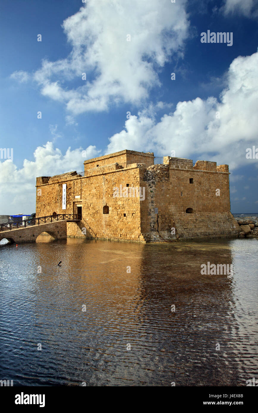 The castle of Paphos , Cyprus.Paphos is on of the 2 European Capitals of Cullture for 2017. Stock Photo