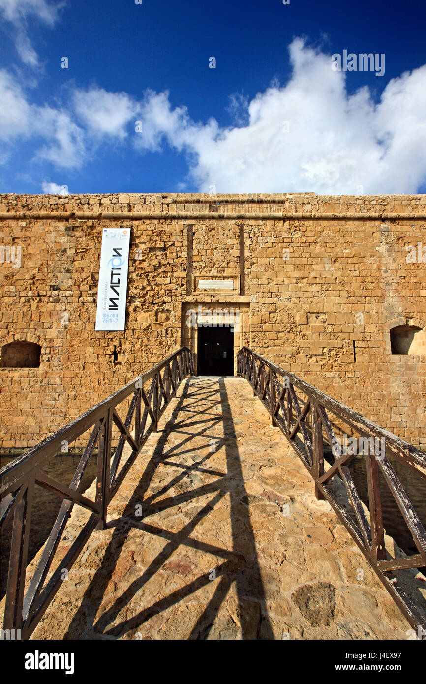 The castle of Paphos , Cyprus.Paphos is on of the 2 European Capitals of Cullture for 2017. - Stock Image