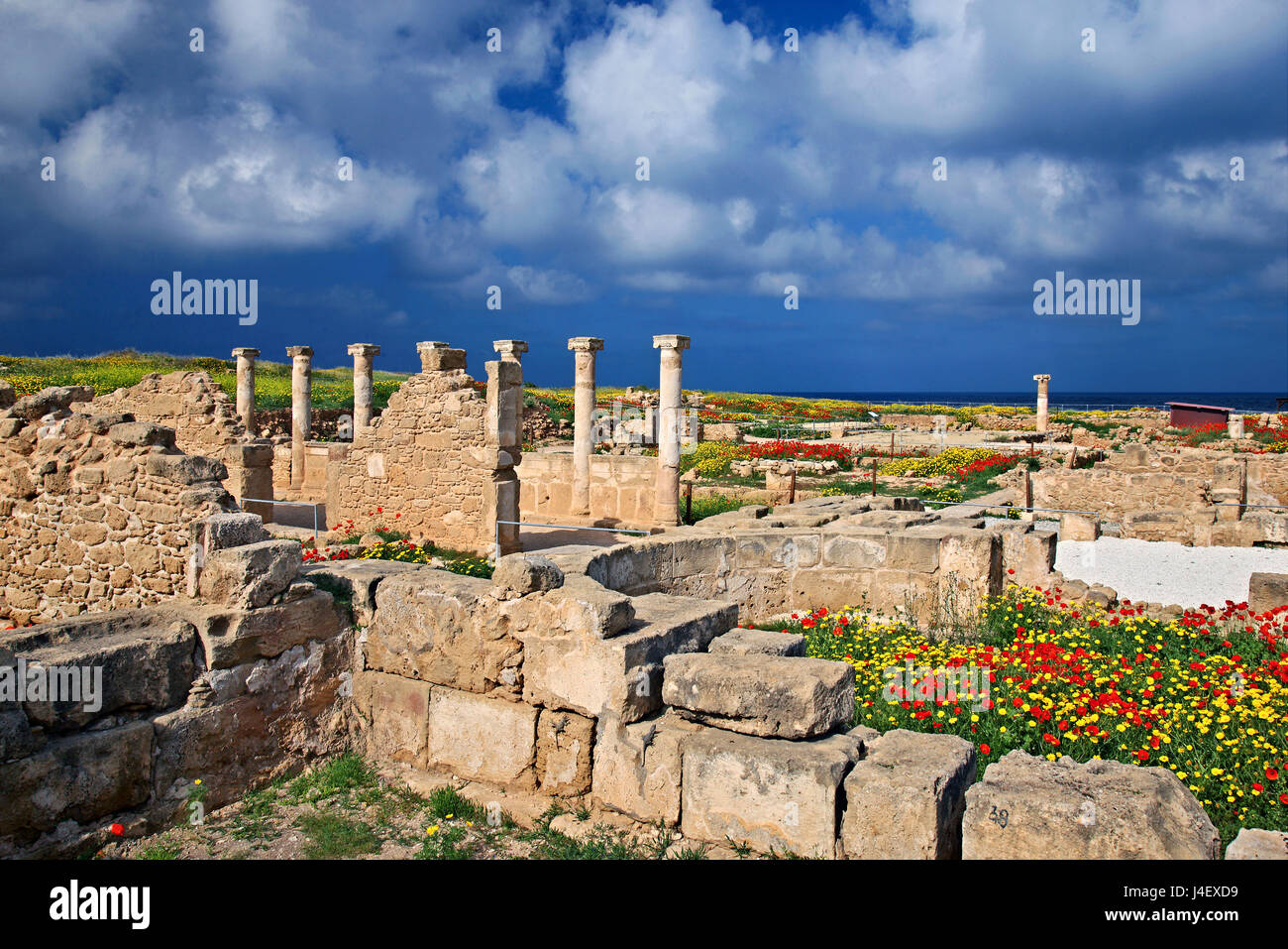 The 'House of Theseus' at the Archaeological Park of Paphos (UNESCO World Heritage Site) Cyprus. - Stock Image