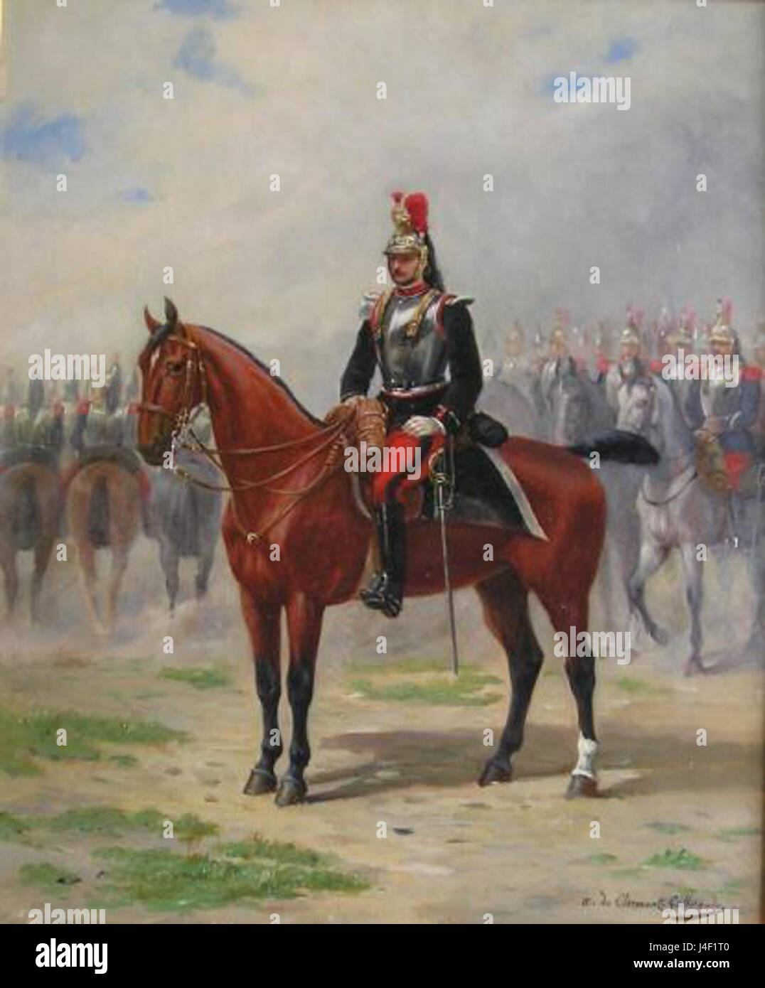 A French Cavalry Officer  c.1875 - Stock Image