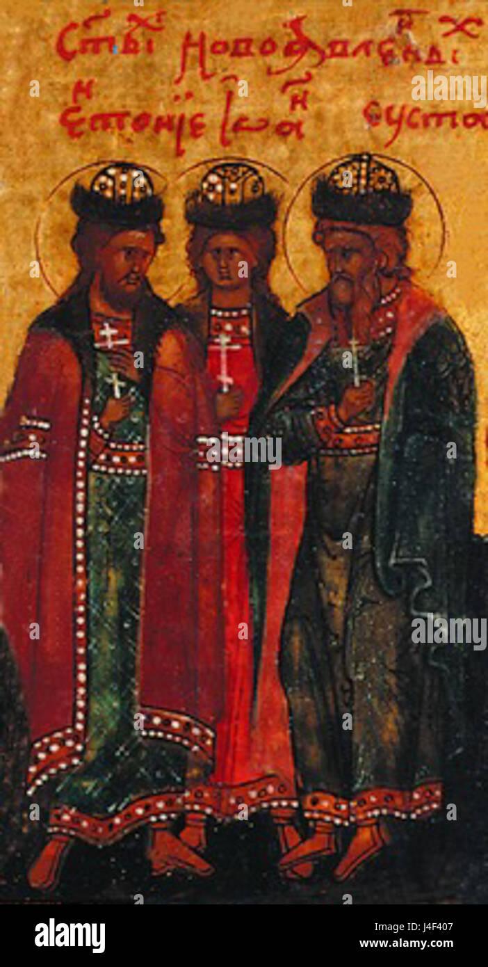Anthony  John  and Eustathios of Vilno - Stock Image