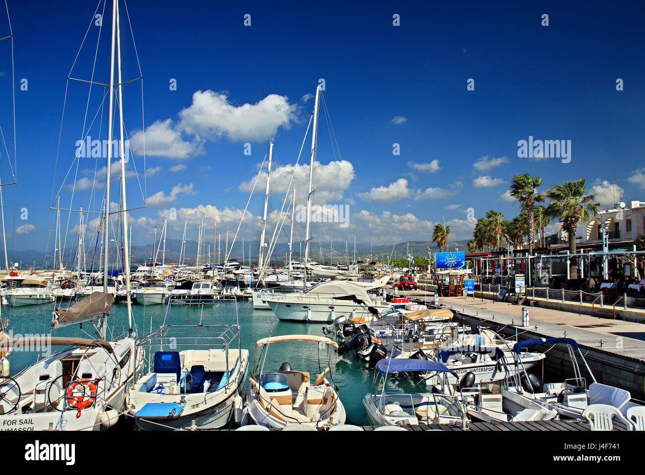 The port of Latchi (or 'Lakki') village, Paphos district, Cyprus. - Stock Image