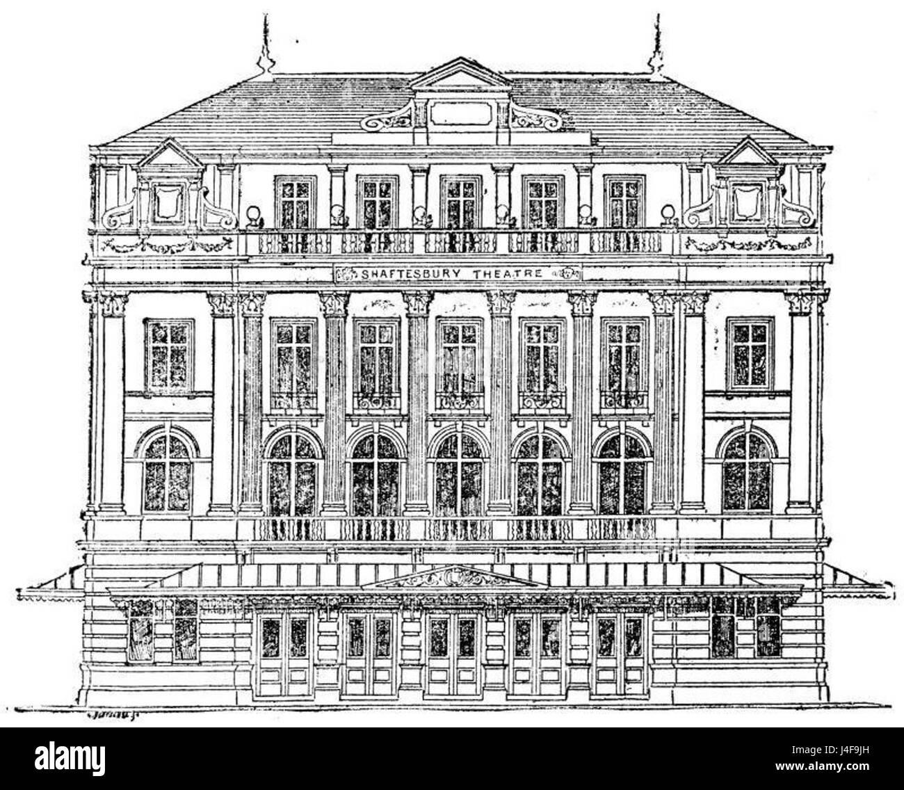 Shaftesbury Theatre 1888 1941 - Stock Image