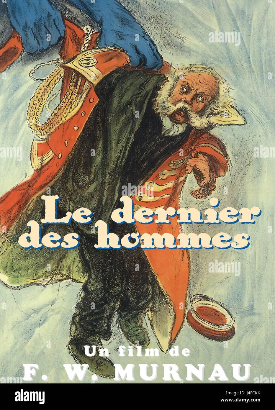 Der letzte Mann   The Last Laugh  Year: 1924  Germany  Director : F.W Murnau  Movie poster (DVD).  It is forbidden Stock Photo