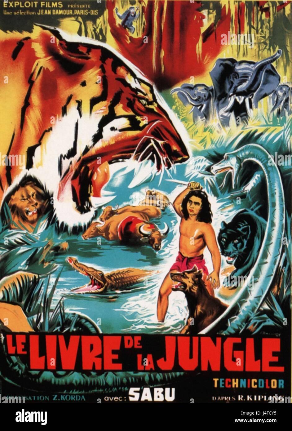 Le Livre De La Jungle Jungle Book Year 1942 Usa Uk
