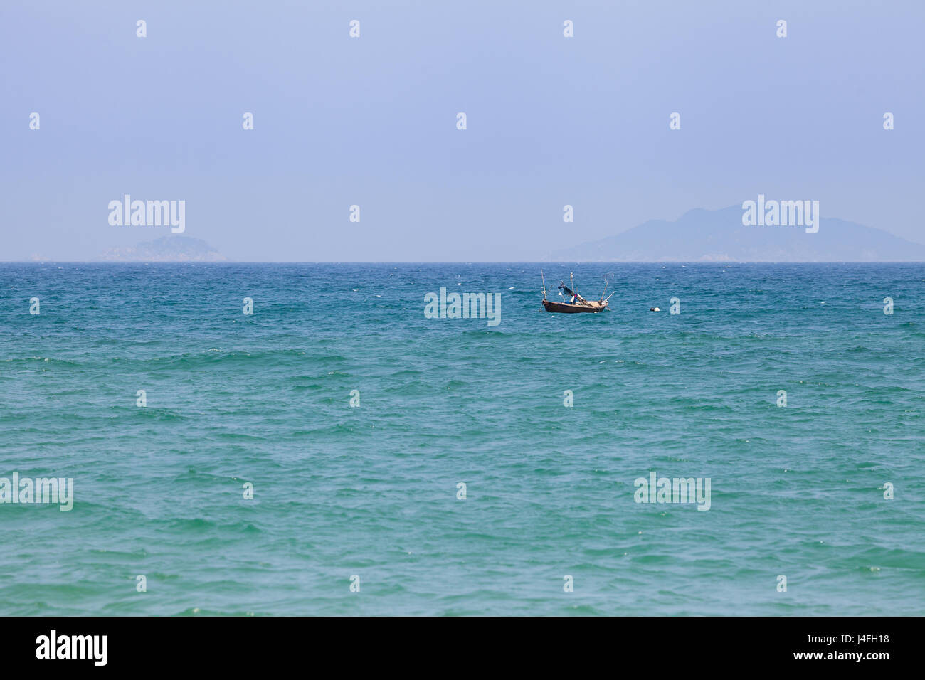 Fishing boat on the Soutch China Sea, Vietnam - Stock Image
