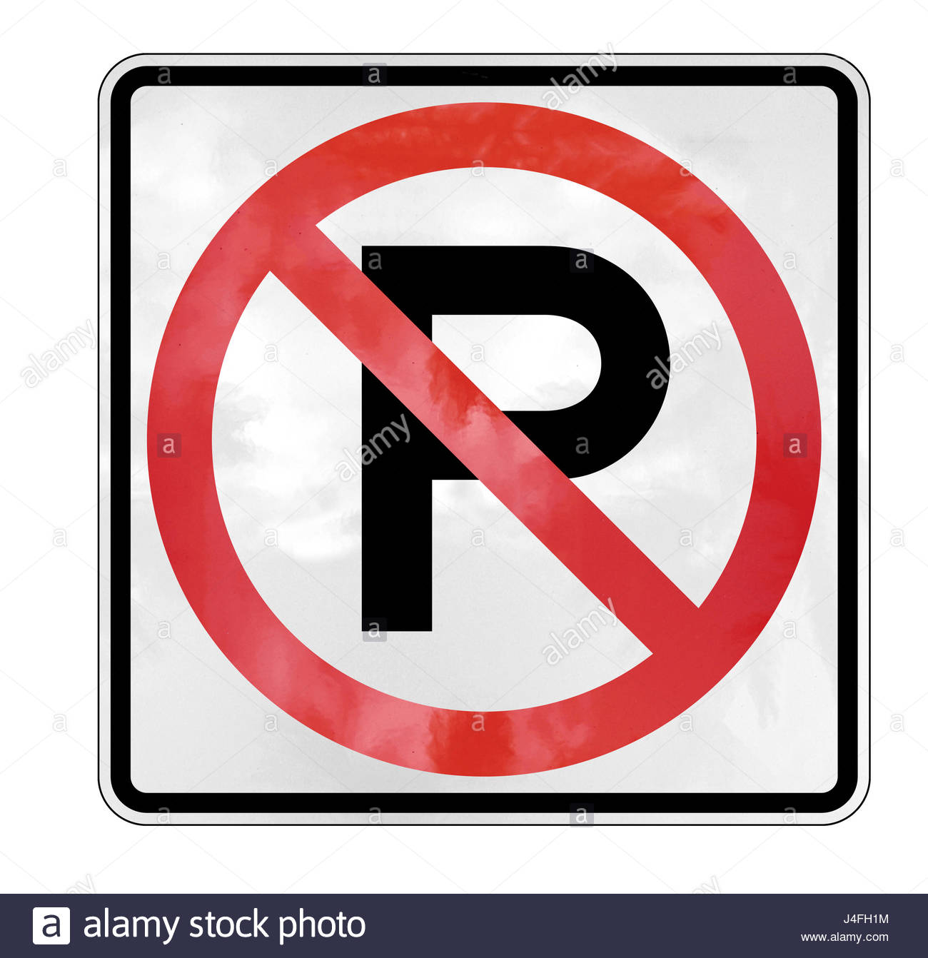 no parking sign forbidden - Stock Image