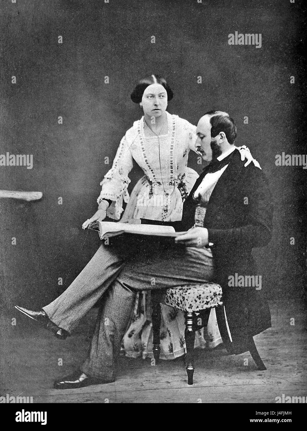Queen Victoria and Prince Albert - Stock Image