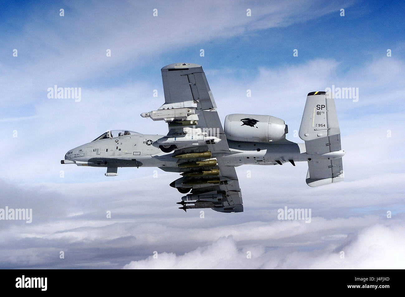 A-10 Thunderbolt II aircraft - Stock Image