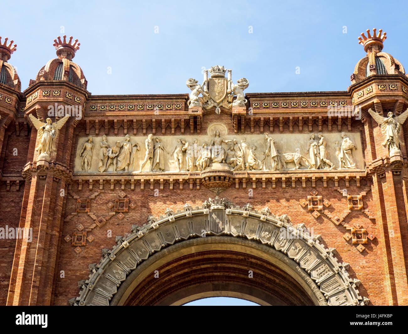 Arc de Triomf, Barcelona, Spain. Stock Photo