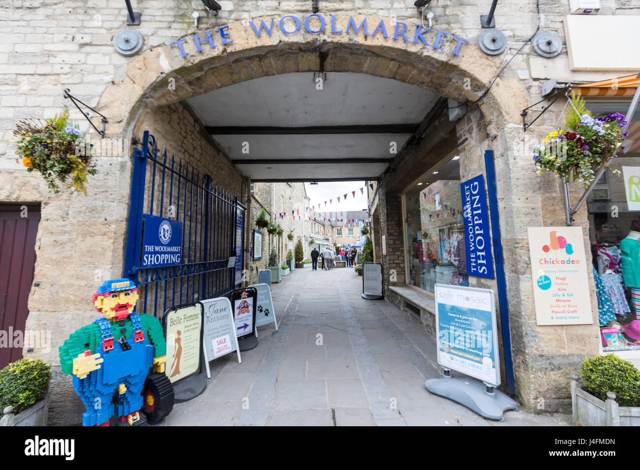 The Wool market entrance, Cirencester, Gloucestershire, England - Stock Image