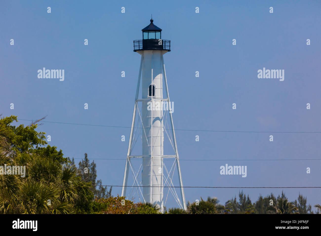Rangelight in Gasparilla Island State Park on the Gulf of Mexico on Gasparilla Island Florida Stock Photo