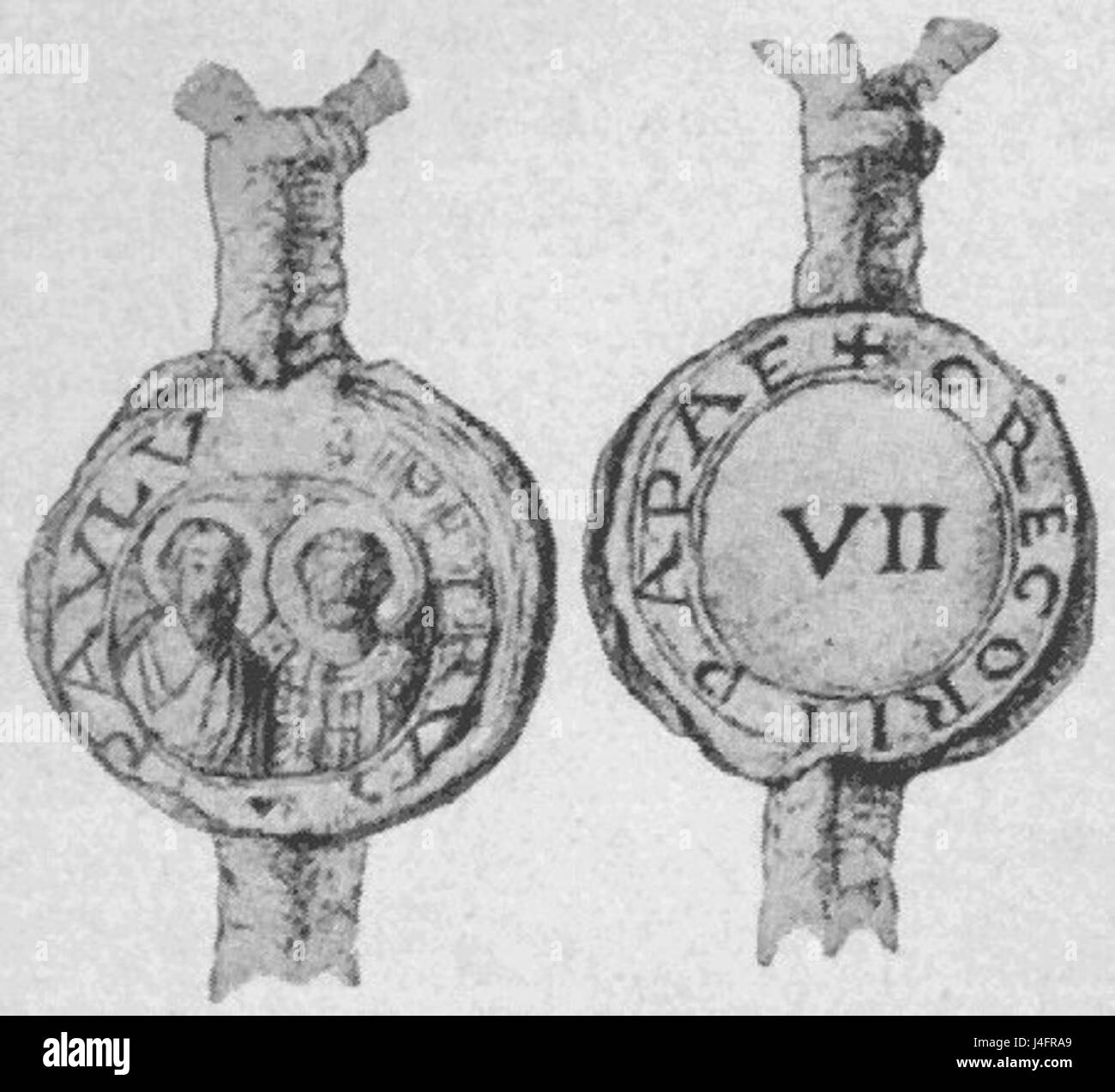 Seal of Pope Gregory VII - Stock Image