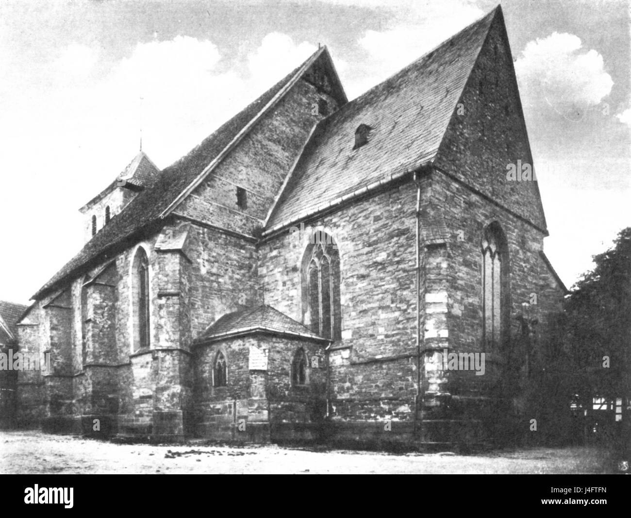 St Peter Waltrop Suedost 1891 - Stock Image