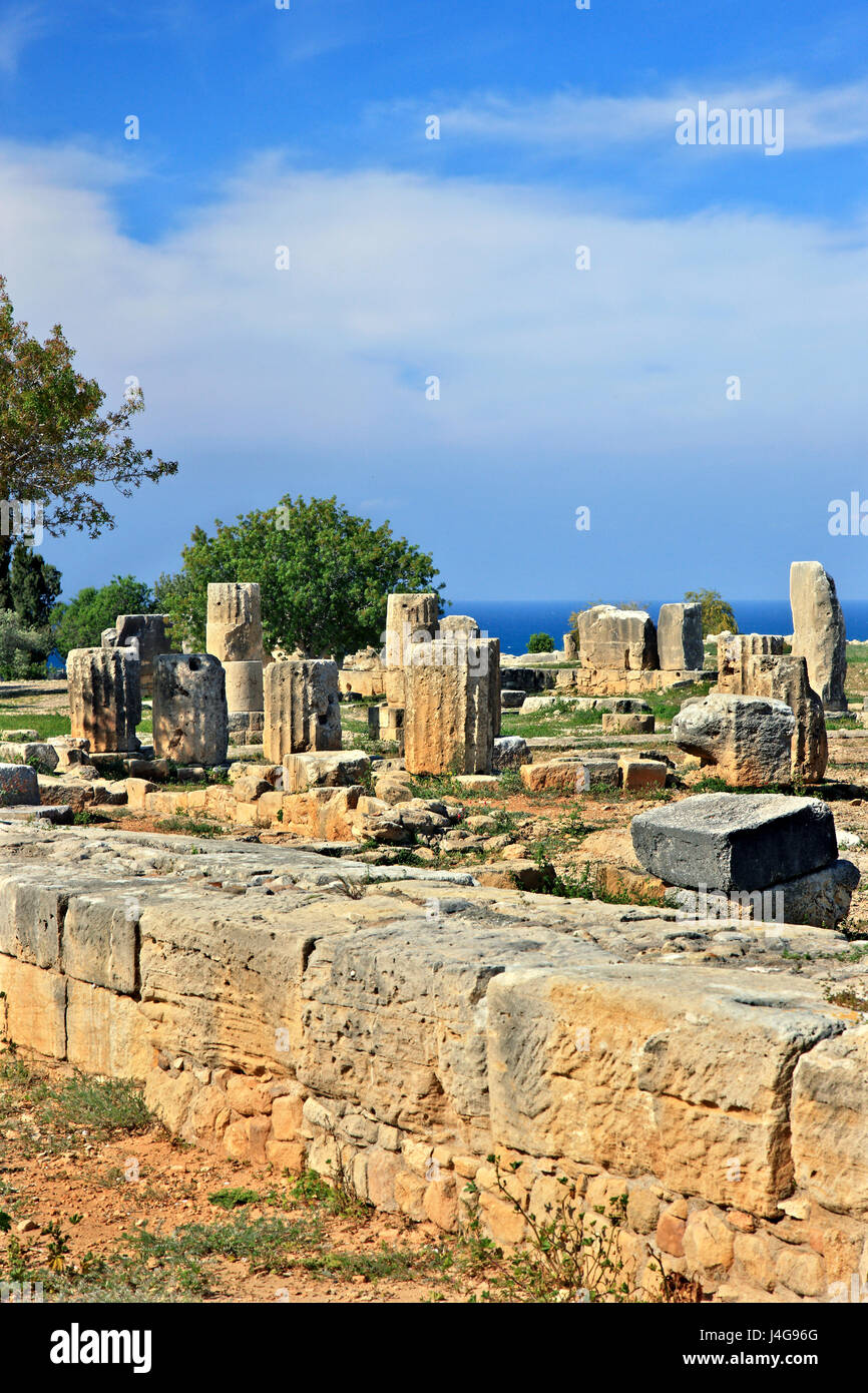 At the archaeological site of Palaipaphos (or 'Palaipafos' - Sanctuary of Aphrodite), at Kouklia village, - Stock Image