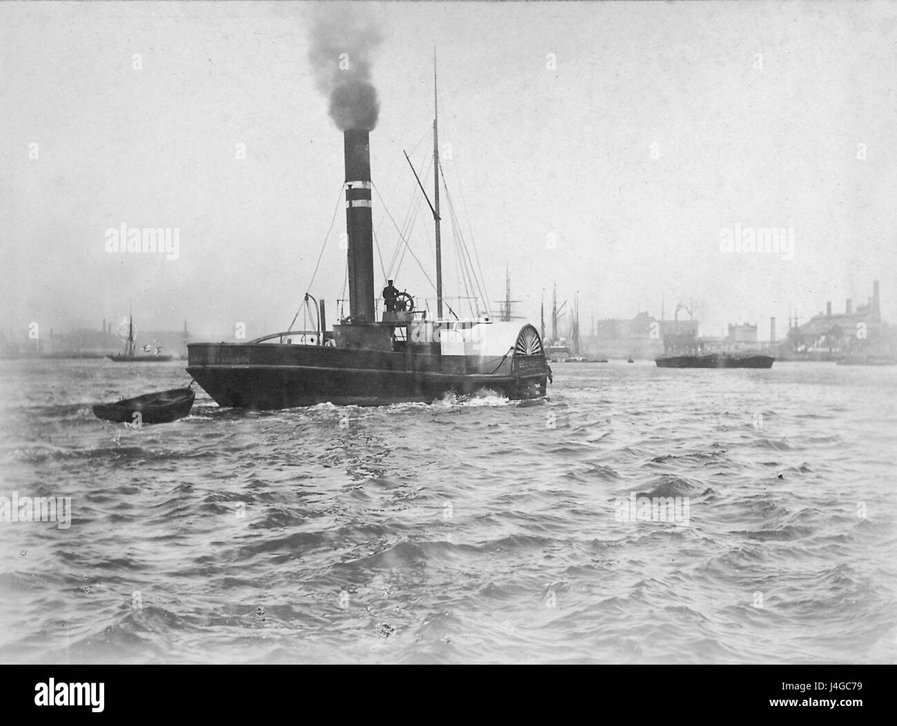 Steam tug PS 'Ben More' on River Thames - Stock Image