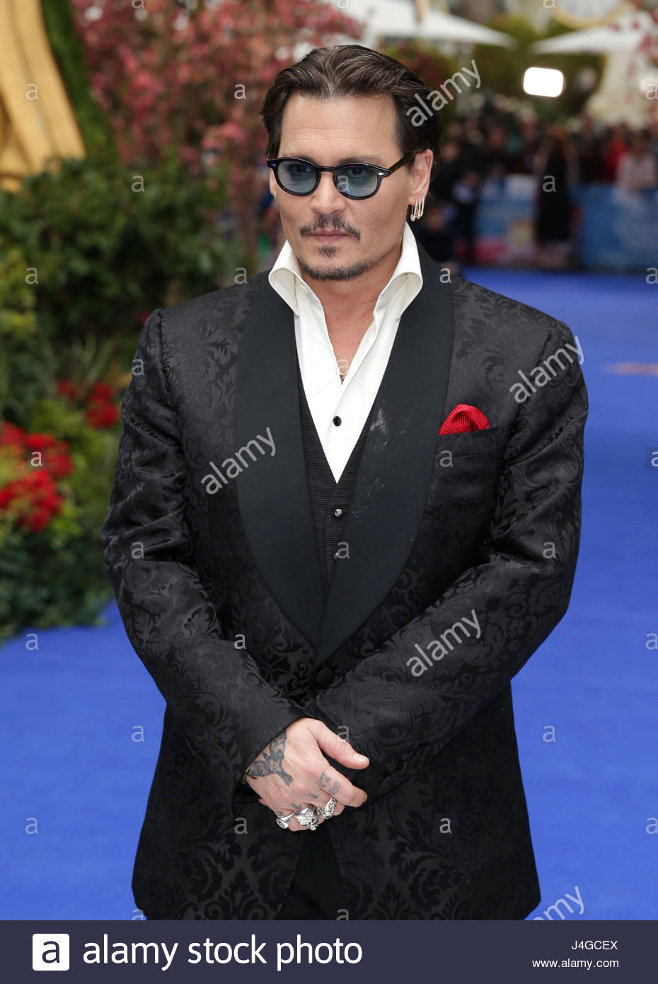 """File photo dated 10/05/16 of Johnny Depp, who says his advice to his younger self would be to """"get out - Stock Image"""