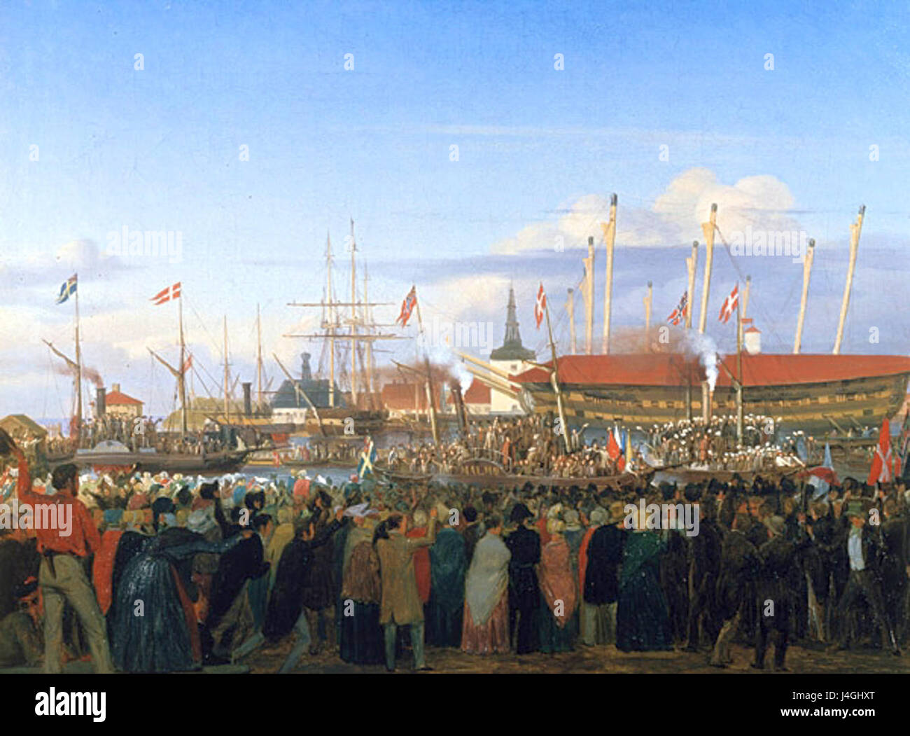 Studenter Skandinavismus 1845 - Stock Image