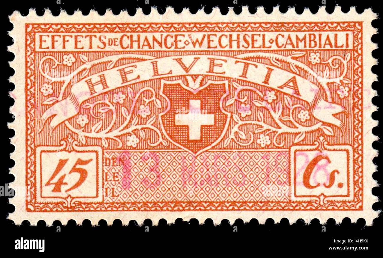Switzerland federal revenue 1920 45c 32A - Stock Image