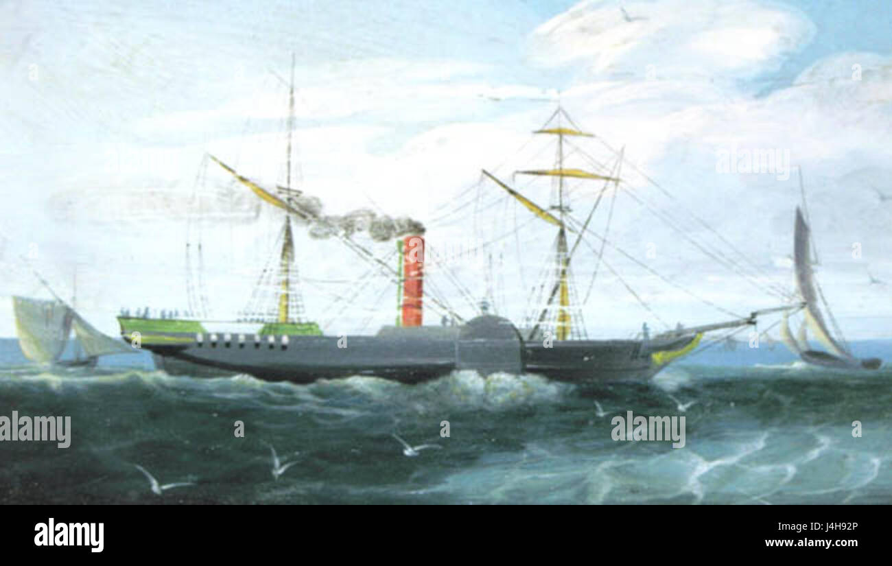 SS Forfarshire from a Contemporary Painting Stock Photo