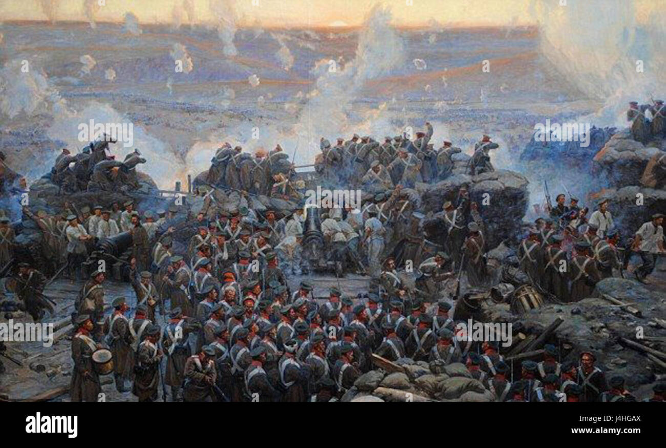Siege of Sevastopol by Franz Alekseyevich Roubaud - Stock Image