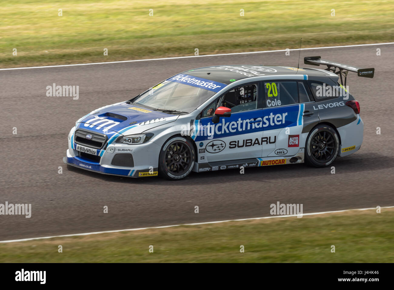 BTCC Driver James Cole competing at Thruxton Circuit, Hampshire, on Sunday 7th May 2017. - Stock Image