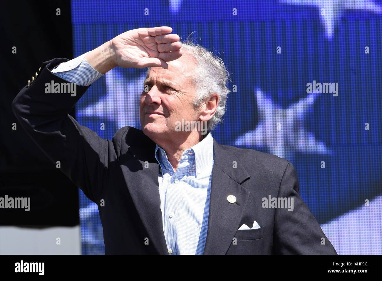 U.S. South Carolina Governor Henry McMaster watches an aerial demonstration during the South Carolina National Guard - Stock Image
