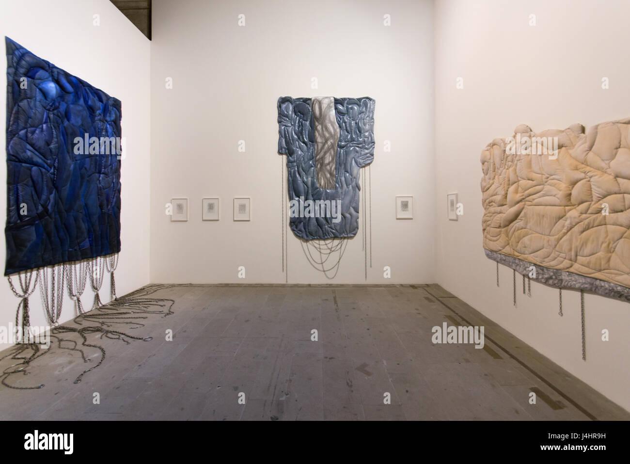 Rasheed Araeen, Zero to Infinity, installation, Venice Art Biennale 2017, core exhibition at Arsenale, Inexhibit - Stock Image