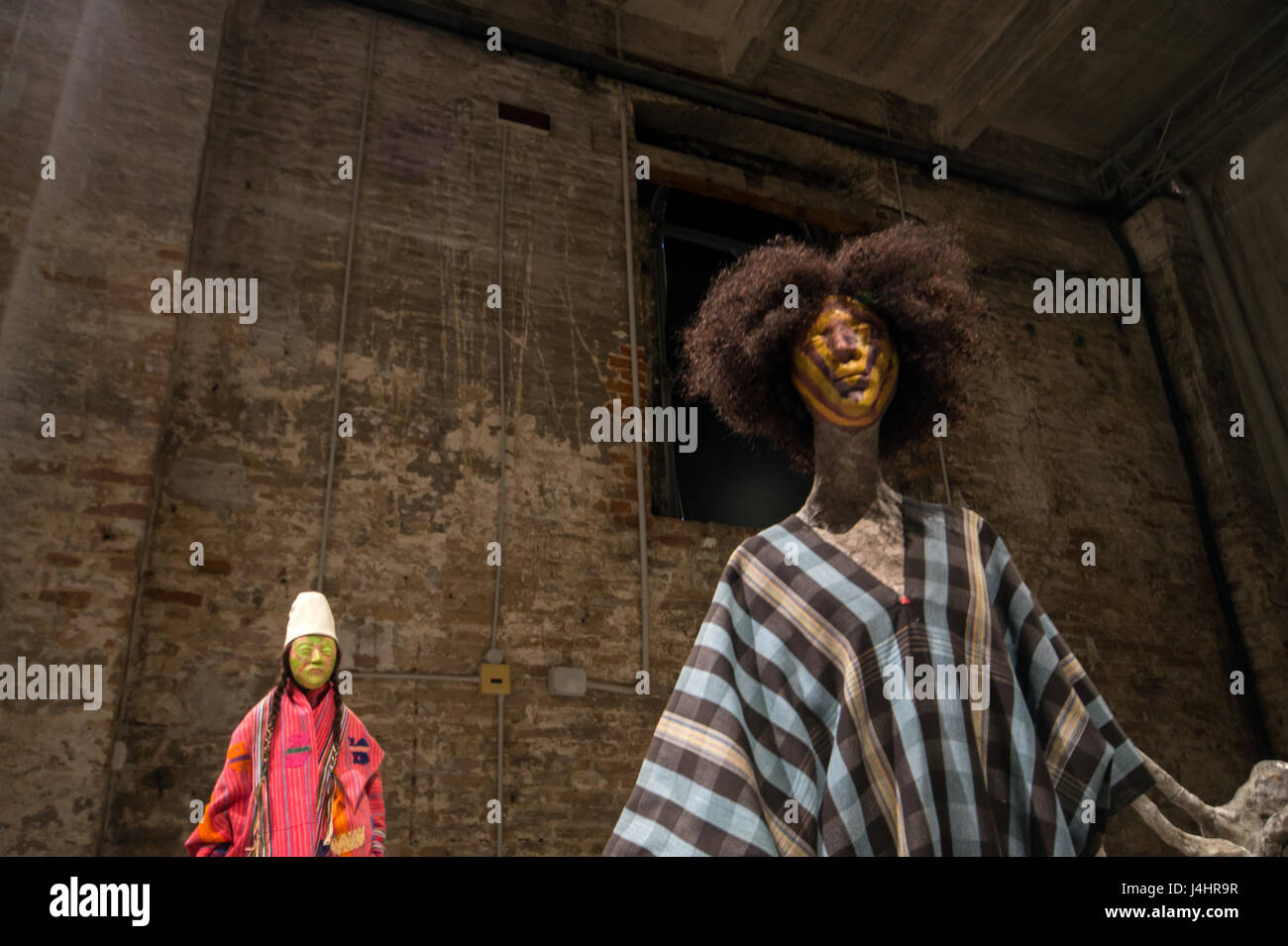 Francis Upritchard,  sculptures, 57th Venice Art Biennale 2017, core exhibition at Arsenale - Stock Image