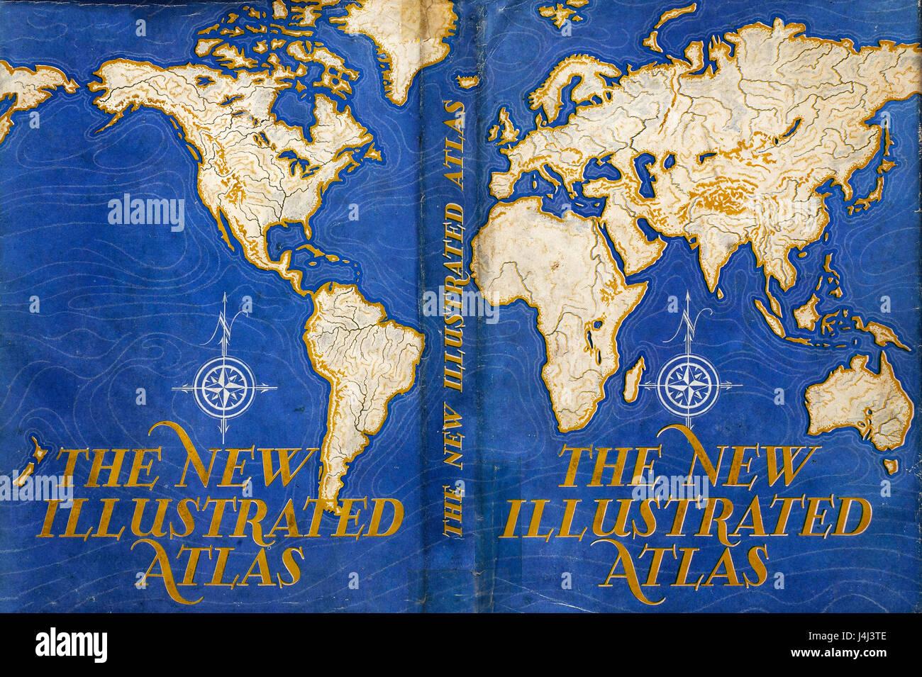 Illustration of atlas map - Stock Image
