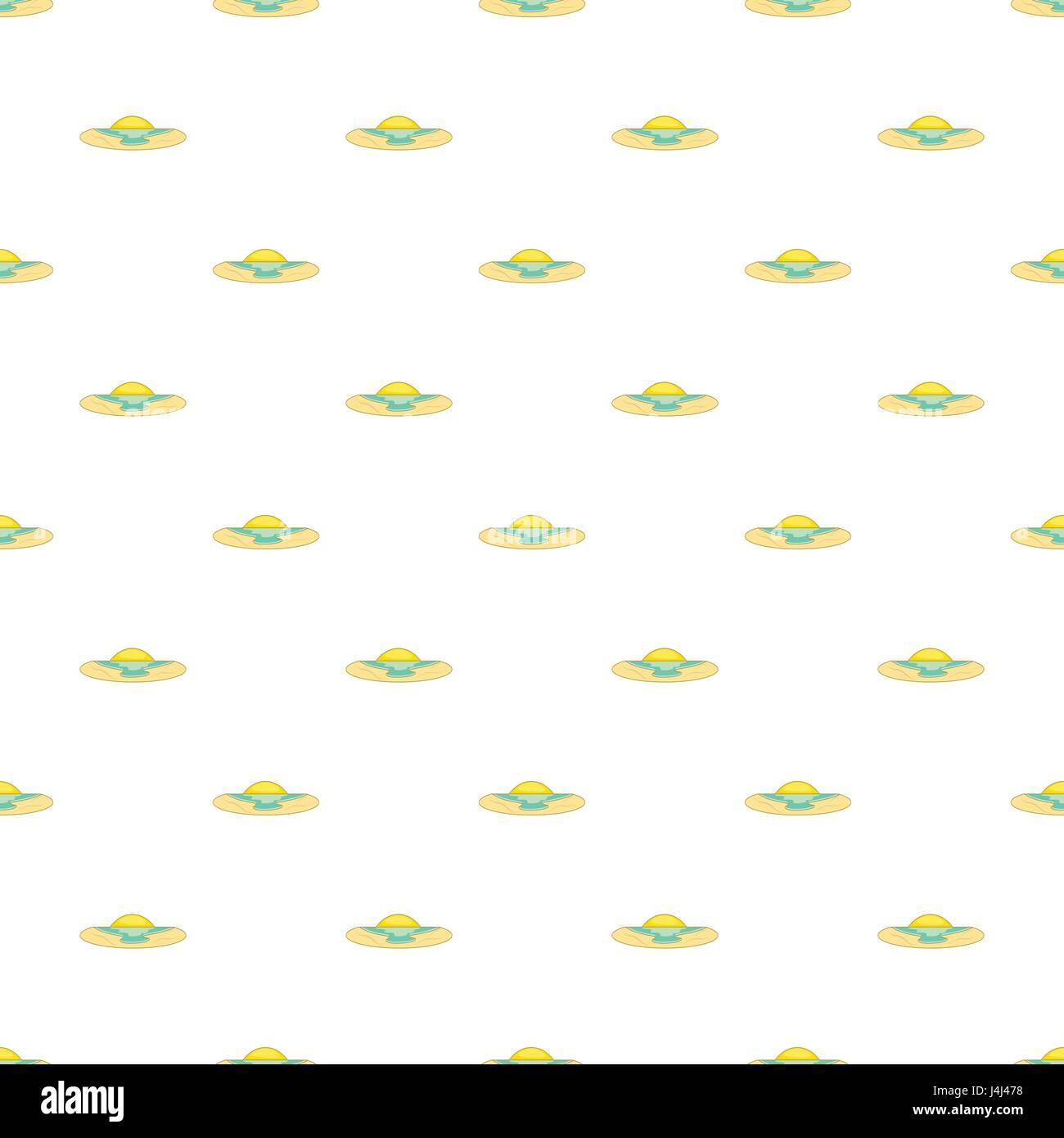 Sunrise over sea pattern, cartoon style - Stock Vector