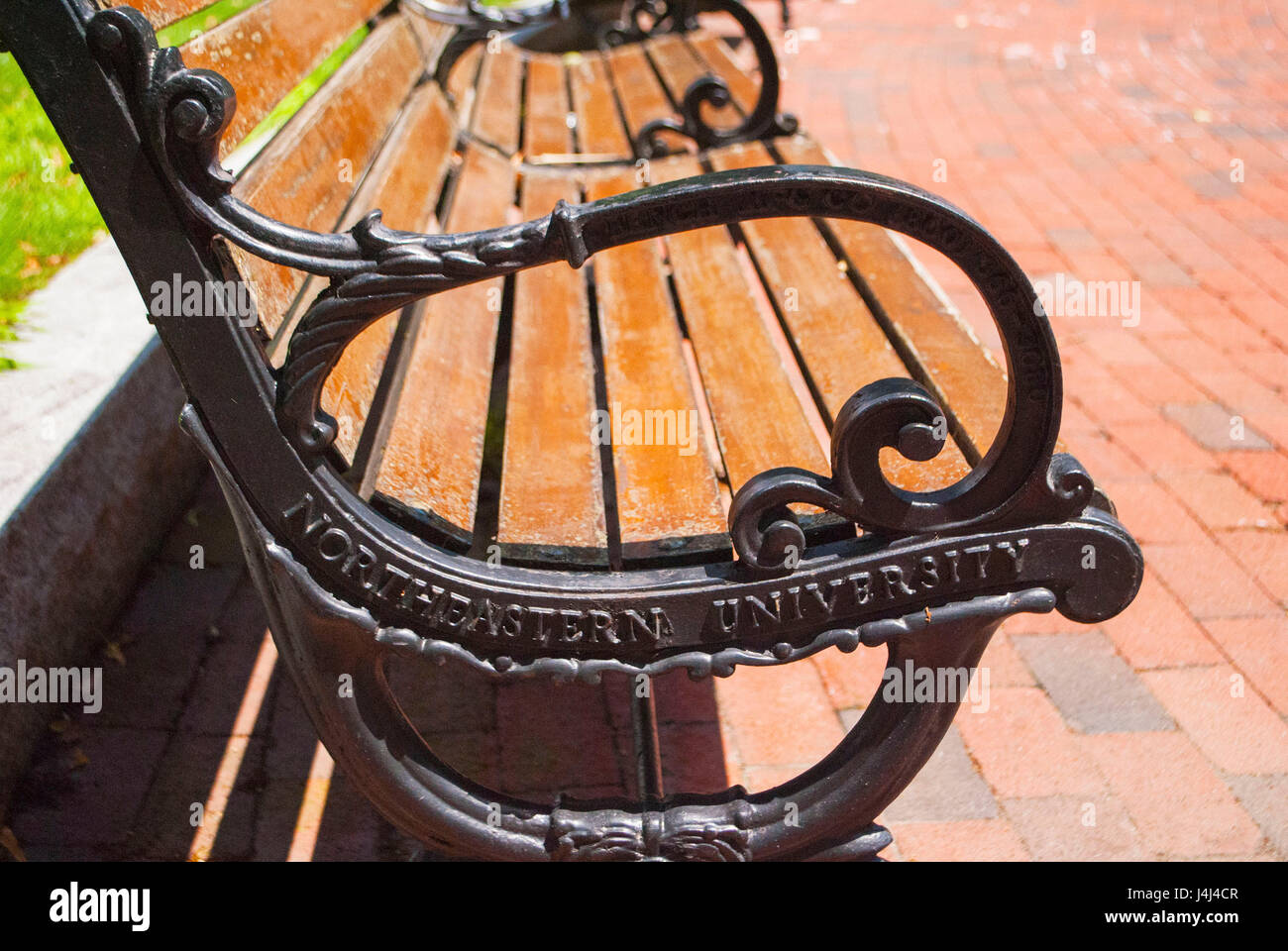 Northeastern University Park Bench - Stock Image